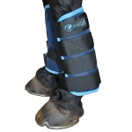 Magnetic stable boots in cyan by Equine Magnetix
