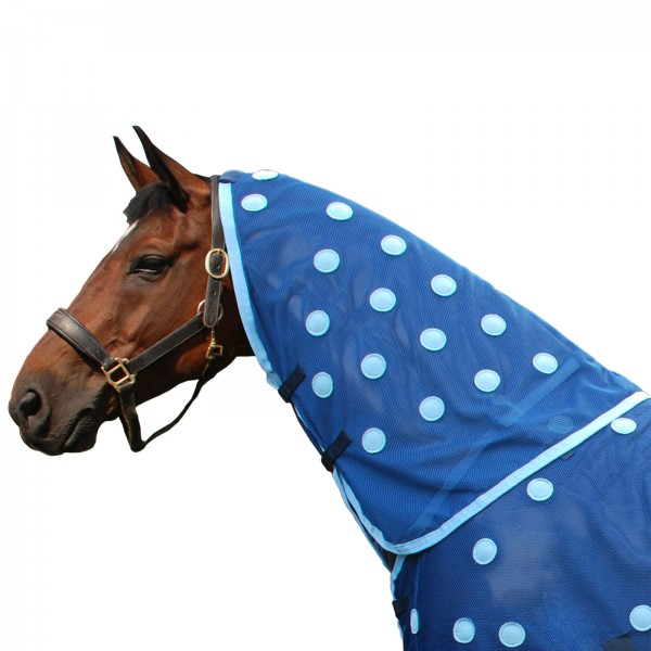 Magnetic neck piece in cyan by Equine Magnetix