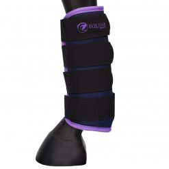 Magnetic stable boots in purple by Equine Magnetix