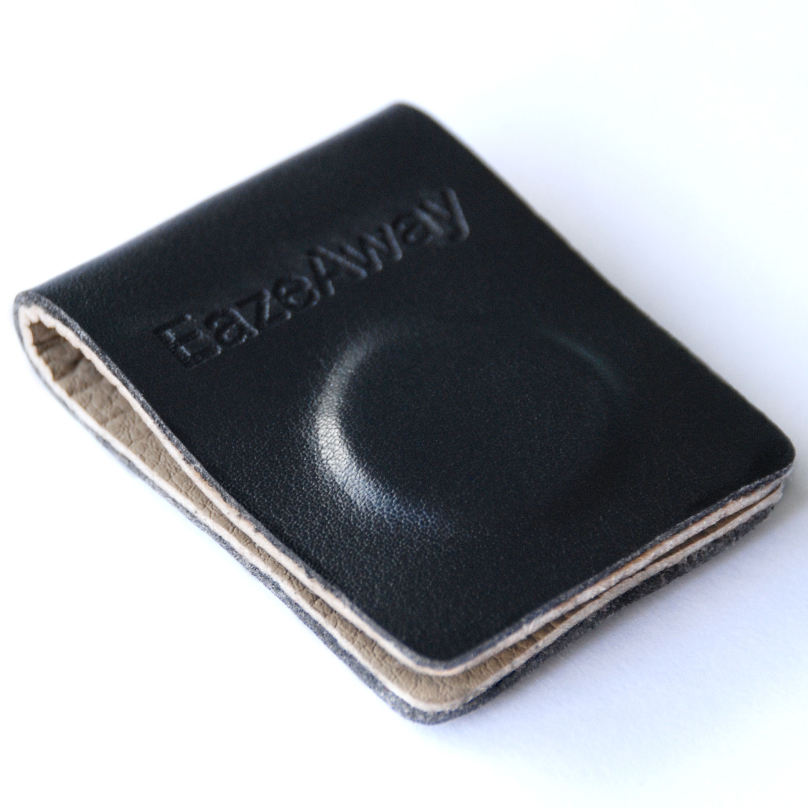 EazeAway Magnetic Clip made of soft leather with two strong neodymium magnets.