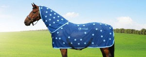 Mani modelling the Equine Magnetix rug and neck piece
